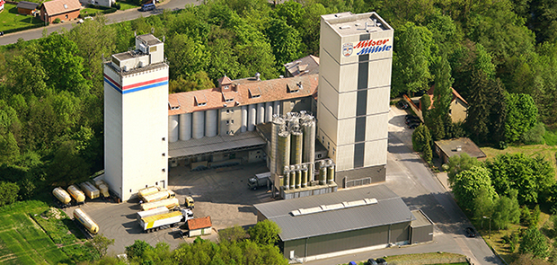 Luftaufnahme der Milser Mühle